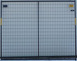 Crowd Control Temporary Fence Panel Kit - Perimeter Patrol Portable Security Fence - Safety Barrier for protecting property, construction sites, outdoor events. 7.5'W x 6'H