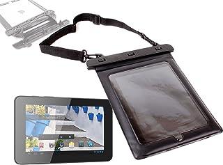 DURAGADGET Funda Negra Sumergible para Mundo Reader Tablet BQ Maxwell 2 Plus/Maxwell Plus/Maxwell 2 De 7 Pulgadas con Cuerda para Transporte