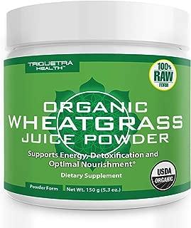 raw organic wheatgrass juice powder