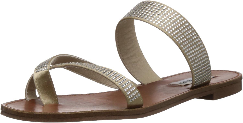 Steve Madden Women's Aintso-R Rhinestone Sandal 6 M