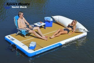 Inflatable Sport Boats Yacht Dock 10' x 6' x 6 inches Thick Inflatable Floating Platform