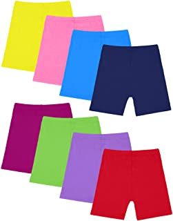 Resinta 8 Pack Black Dance Shorts Girls Bike Short Breathable and Safety 8 Color