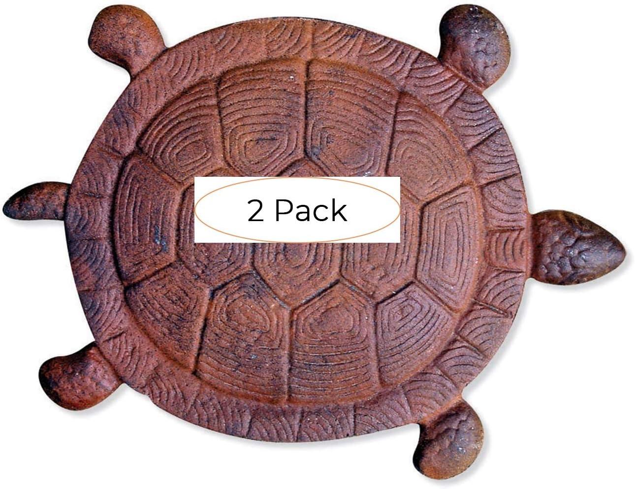 Sunset Vista Designs 祝日 Cast Iron 13- Garden Turtle Stone Stepping 新品未使用正規品