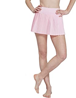 Women Pleated Tennis Skirt Golf Workout Active Casual Skort with Inner Shorts