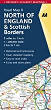 North of England & Scottish Borders Road Map (AA Road Map Britain)
