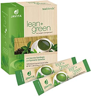 Lean + Green, Premium, 100% Sencha Green Tea, Super Citrimax (Garcinia Cambogia) & Gymnema Sylvestre, for Weight Management, Appetite Control and Sugar Balance 24 ct, Javita