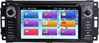ZLTOOPAI Für Dodge Ram Challenger Jeep Wrangler JK Single Din Head Unit Android 10 Autoradio Autoradio Autoradio GPS Navigation Unterstützung DSP IPS DAB WiFi OBD2 Lenkradsteuerung