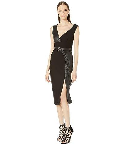 YIGAL AZROUEL Leather Combo MS Dress (Black) Women