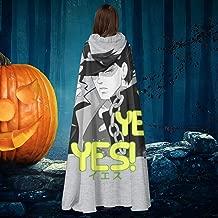 Jojos Bizarre Adventure Jotaro Yes Unisex Christmas Halloween Witch Knight Hooded Robe Vampires Cape Cloak Cosplay Costume Black