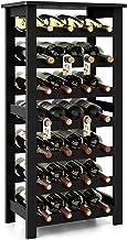 Homfa Bamboo Wine Rack, 7 Tier Free Standing Wine Storage Rack Display Shelves 28 Bottles Capacity Storage Standing Table,...