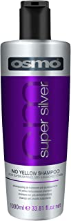 Osmo Super Silver No Yellow Shampoo for Super Lightened Grey and Bleached Tones, 1000 ml (33.81 fl oz)