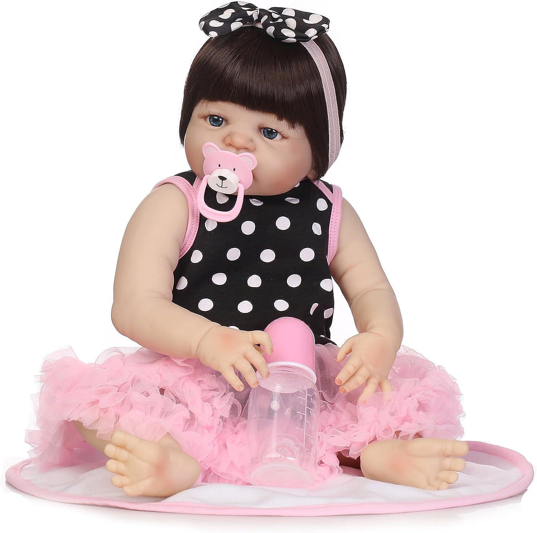 LILITH 19  Reborn Baby Dolls Girl Full Body Soft Silicone Newborn Baby Lifelike Reborn Dolls Bathe Partner Toy Xmas GIft