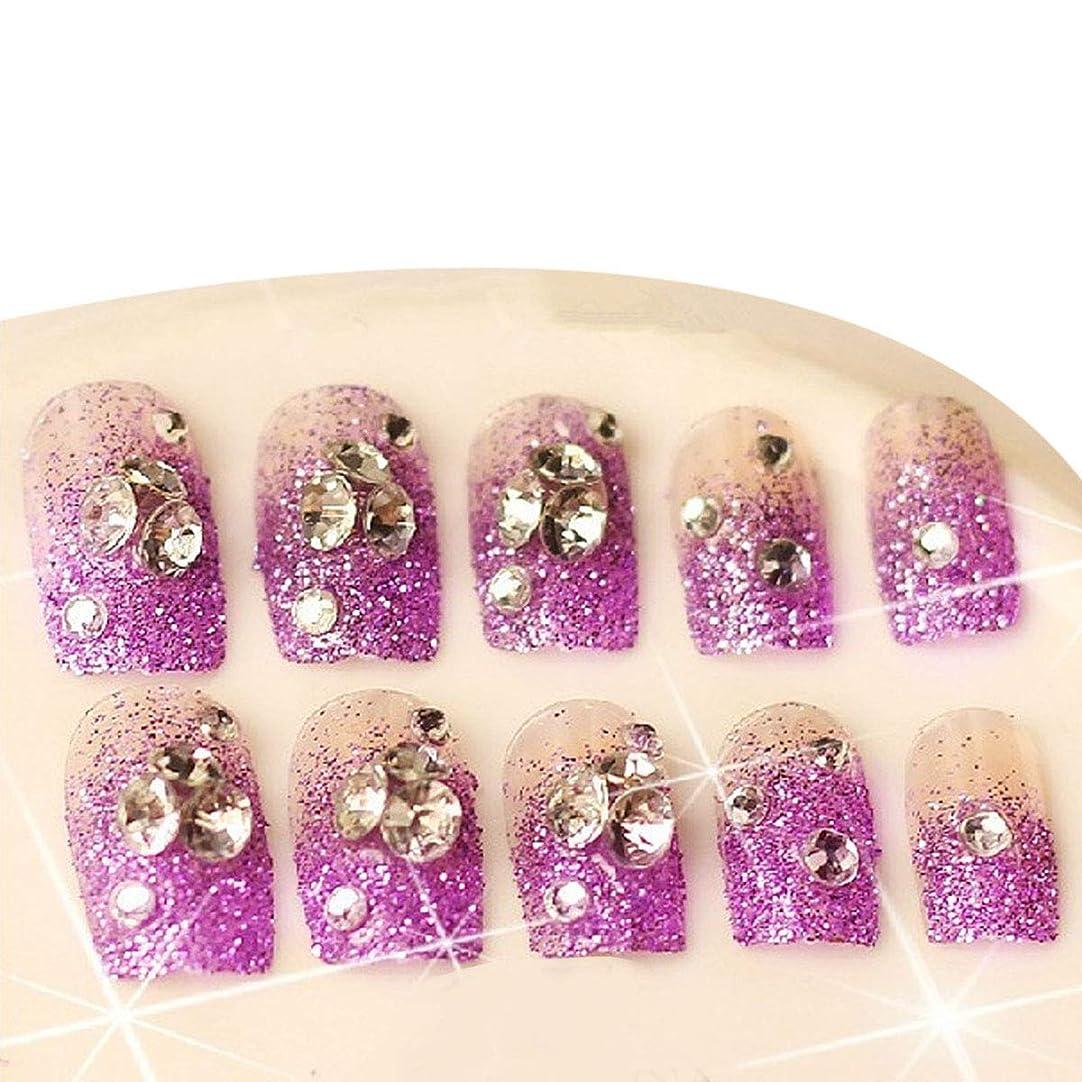 岩印刷する現在Frcolor ネイルシール ネイルステッカー 人気 星 パープル グリッターのダイヤモンド 分解可能 花嫁 24枚セット