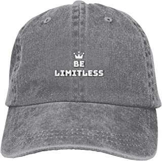 Try to Be Limitless Black Baseball Cap Adjustable Unisex Low-Profile Hat