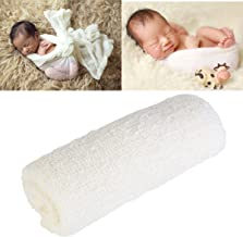 Tinksky Long Ripple Wrap, DIY Newborn Baby Photography Wrap-BAby Photo Props (Off-white Color)