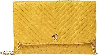 تشارمينج تشارلي حقيبة للنساء-اصفر - حقائب طويلة تمر بالجسم