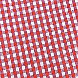 0,5m Vichy-Karo klein 3mm Stoff rot/ weiß Meterware 100%