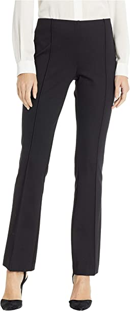 Ponte Hidden Elastic Bootcut Pull-On Pants with Seam Detail