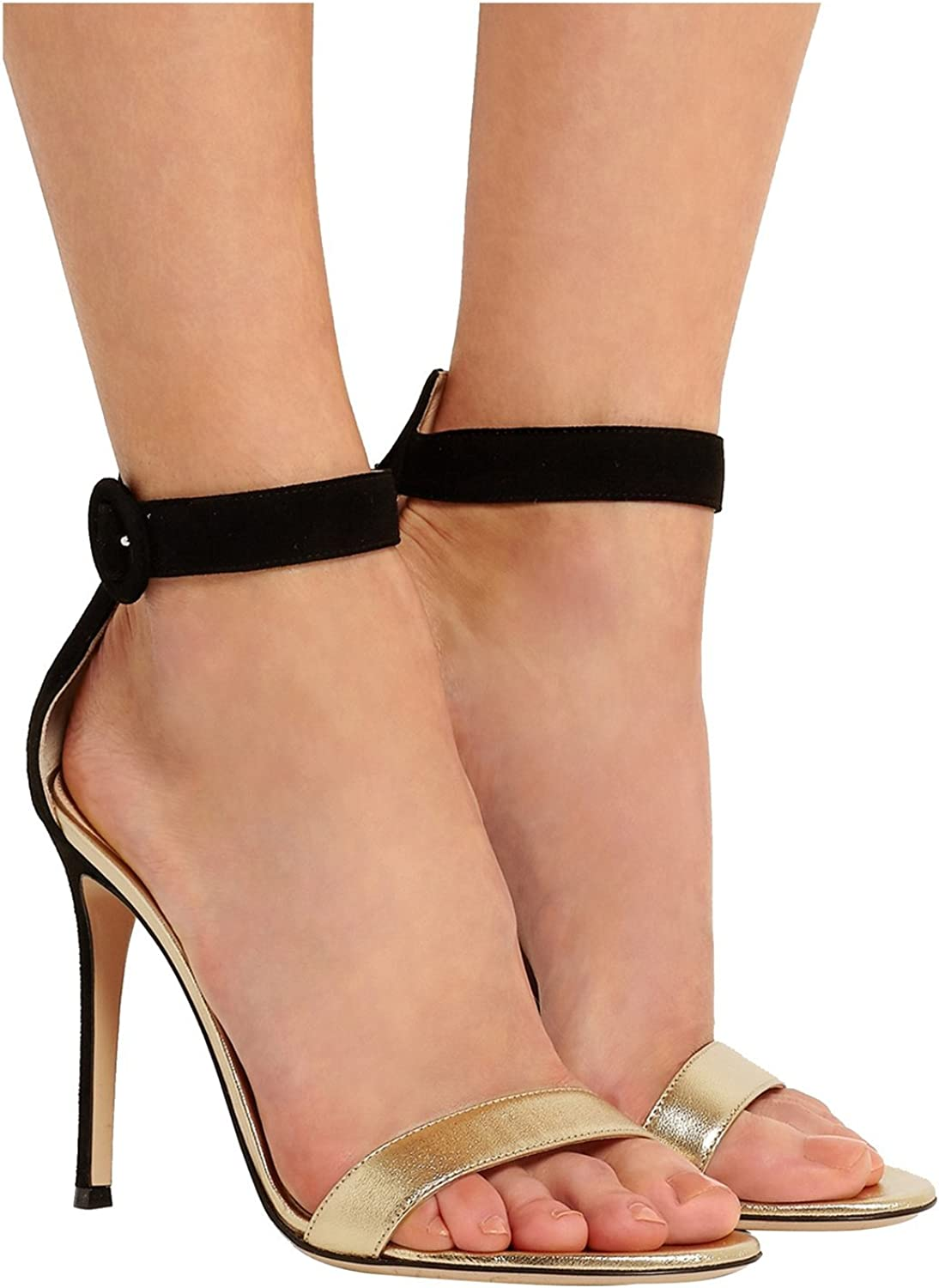 Kevin Fashion KLSDN233 Women's High Heel Suede Club Party Evening Sandals
