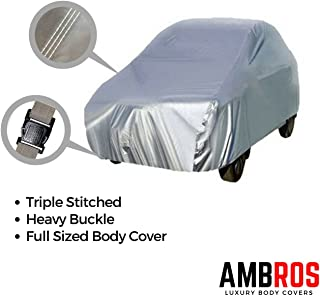 Ambros Premium Silver Car Body Cover Triple Stiched for - Grand i10 / i 10 / Kwid / Eon / Ignis