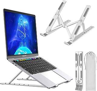 Soporte para laptop, soporte portátil ajustable, de aleación de aluminio, compatible con MacBook PC-Notebook Tablet Thinkp...