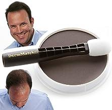 DermMatch Waterproof Hair Loss Concealer. Naturally Thicker Than Hair Fibers & Spray Concealers. (Dark Brown)
