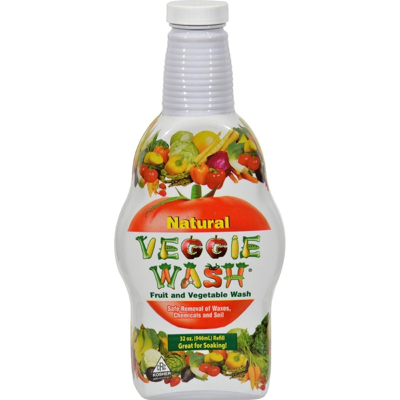 Veggie Wash Citrus Magic Natural Fruit and Vegetable Refill, 32 Fluid Ounce
