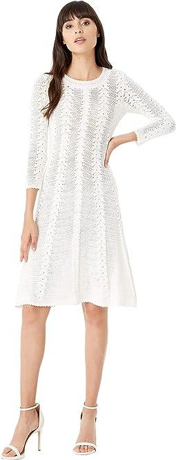 Vertical Open Stitch Dress