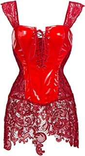 Alivila.Y Fashion Corset Women's Shiny Faux Leather Steampunk Corset