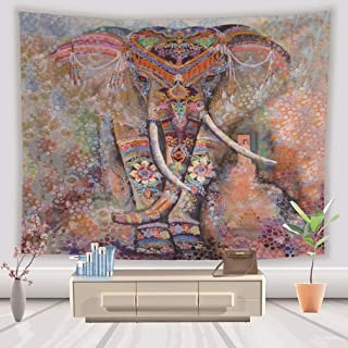 Camera da Letto Decorazione da Parete per Soggiorno buona Fortuna dormitorio LIGICKY Arazzo da Parete con Mandala e Elefante Boh/émien Stile Hippie 150 x 130 cm