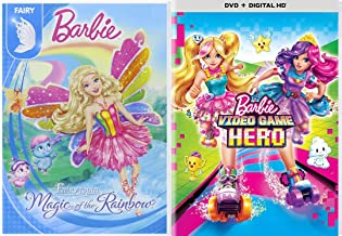 Roller-skating princess Bella A Very Fairy Friends Video Game Hero + Magic of the Rainbow Fairytopia Barbie 2 Pack Girls Fun Adventure Cartoon DVD Double Feature Movie Collection 2 pack