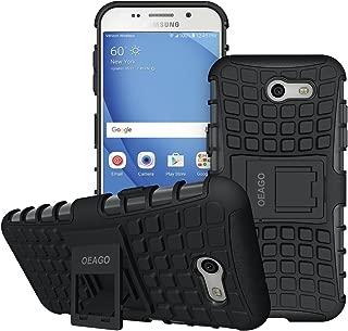 OEAGO Samsung Galaxy J3 Emerge / J3 Prime / J3 Eclipse / J3 2017 / J3 Luna Pro / J3 Mission/Sol 2 / Amp Prime 2 / Express Prime 2 Case, Tough Rugged Dual Layer Case with Kickstand (Black)