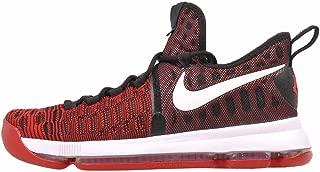 Zoom KD 9 Men's Basketball Shoes (10, University Red/White-Black)