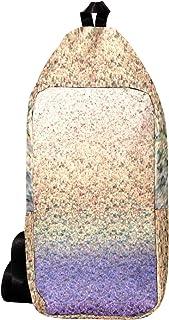 EZIOLY Mochila de hombro de hilo púrpura Mochila bandolera bolsa de viaje senderismo mochila para hombres y mujeres