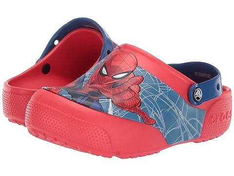 65ea33b40715 Crocs Kids CrocsFunLab Spiderman Lights Clog (Toddler Little Kid) at ...