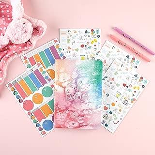 Erin Condren Designer Petite Planner Pregnancy Bundle - Includes Pregnancy Petite Planner and Illustrative, Functional, and Cute Stickers for Customization