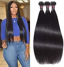 RESACA Wholesale Brazilian Straight Hair Weave 3 Bundles Human Hair Extensions Remy Unprocessed Brazilian Virgin Hair 95-100g (12