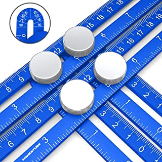 Angle Ruler Universal Angularizer Template Tool | Ultimate Angleizer Ruler | Full Metal Jig | Irregular Shape Copy Duplicator | Carpentry/Woodworking/Crafter/Paver Multi Layout Stencil