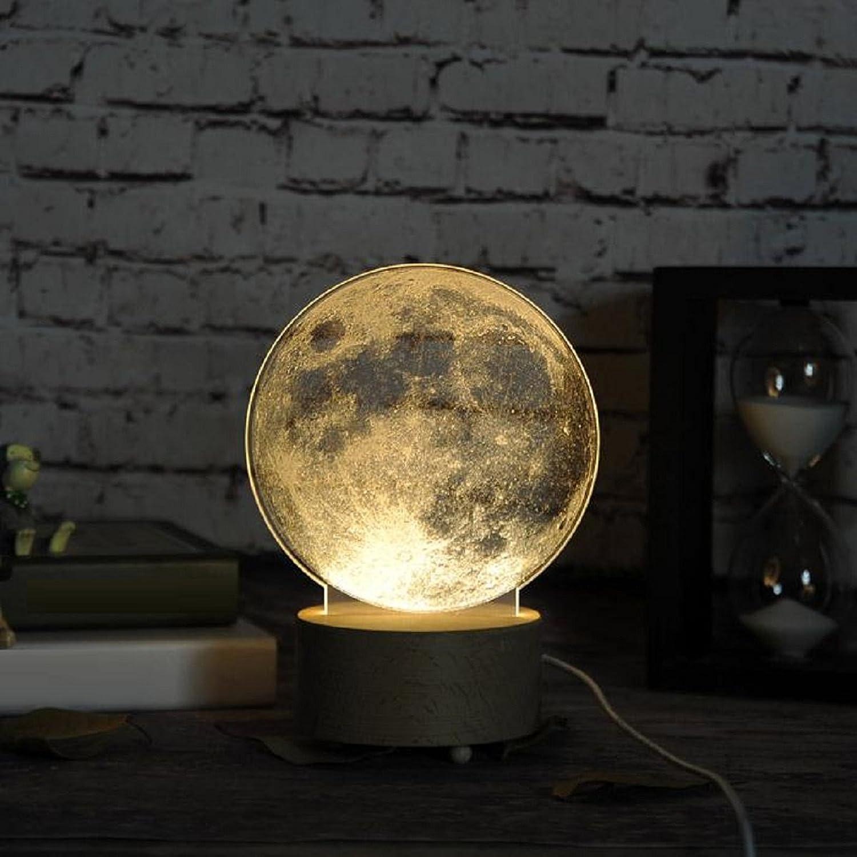 RAING Nordic Designer Kreative DIY Carving Muster Nachtlichter Jungen und Mdchen 3D Nachtlichter Schlafzimmer Nachttisch Tischlampen (8 Muster Muster optional), b
