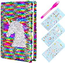 Yiran Girls Secret Diary Sequin Unicorn Diary & Magic Pen with Unicorn Stickers for Girl Children Secret Keeper Private Journal Great Christmas Birthday Gifts For Girls Age 5 6 7 8 9 10 (Colorful)