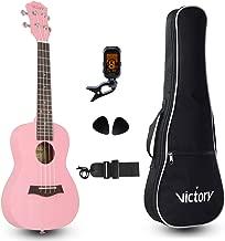 pink concert ukulele