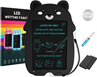 COMPONALL LCD Writing Tablet, Cartoon Bear Portable Reusable Erasable Writing Board Doodle Board, Electronic Doodle Pads Drawing Board Gift for Kids and Adults at Home,School and Office(Black)