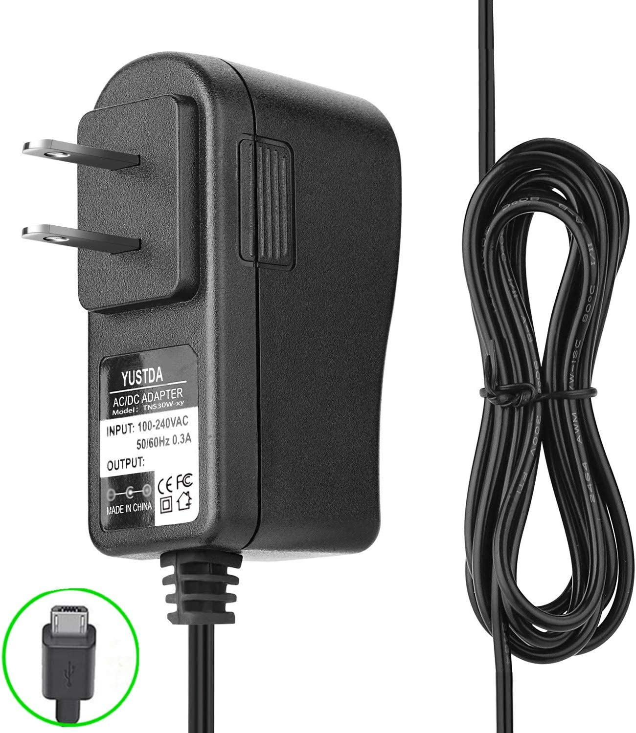 Yustda 6.5 Ft Extra Long 2A AC DC Wall Power Adapter Super-cheap Charger New arrival f