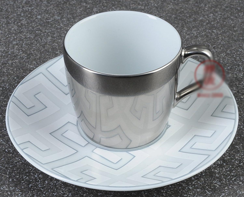 WJP Porzellan Grau Royal Palace Platinum Espresso,einstellen,1 B07DH63RV7