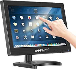 Neewer 11.6 inch Security Monitor HDMI 1920x1080 16:9 IPS LCD Capacitive Touch Screen Support HDMI/VGA/USB/DC Input with Built-in Double Speakers Supports Multi Systems and Mini-PCs Raspberry Pi