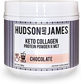 Collagen Peptides, Hydrolyzed Collagen Protein Powder, Collagen Peptides Powder Supplement, Keto Powder with MCT Oil, Choc...