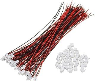 Frieed 100pcs Miniskirt Micro JST 1.5mm ZH Connecteur 2 Broches à 2 Broches avec câbles à câbles 150mm Durable