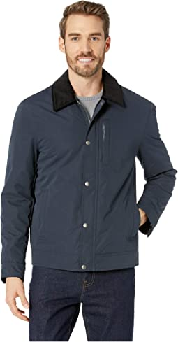 City Rain Padded Barn Jacket with Corduroy Collar