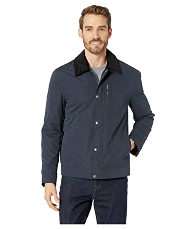 Cole Haan City Rain Padded Barn Jacket with Corduroy Collar (Navy) Men