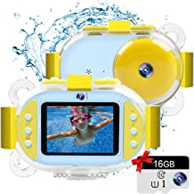 """Kids Camera Gifts for Girls 1080P HD,Mini Rechargeable Children Shockproof Digital Front and Rear Selfie Camera Child Camcorder for 3-9 Year Old Kids Gifts Waterproof 2.0"""" LCD Screen"""